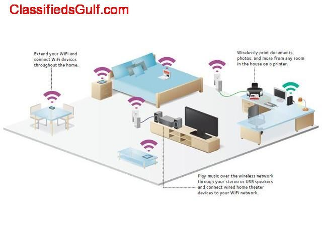 Wireless intenet home access point installation in Sports city