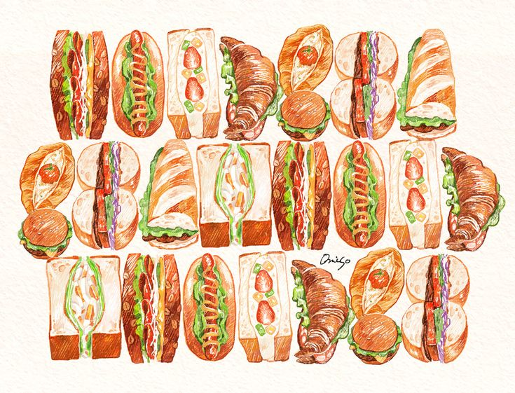 「sandwich」  illustration by omiso.