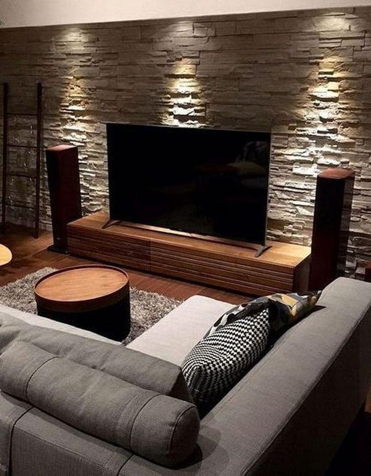 41 Superb Home Stone Interior Design Ideas You Need To Try Now Stone Wall Stone Wall Interior Design Interior Wall Design Stone Walls Interior