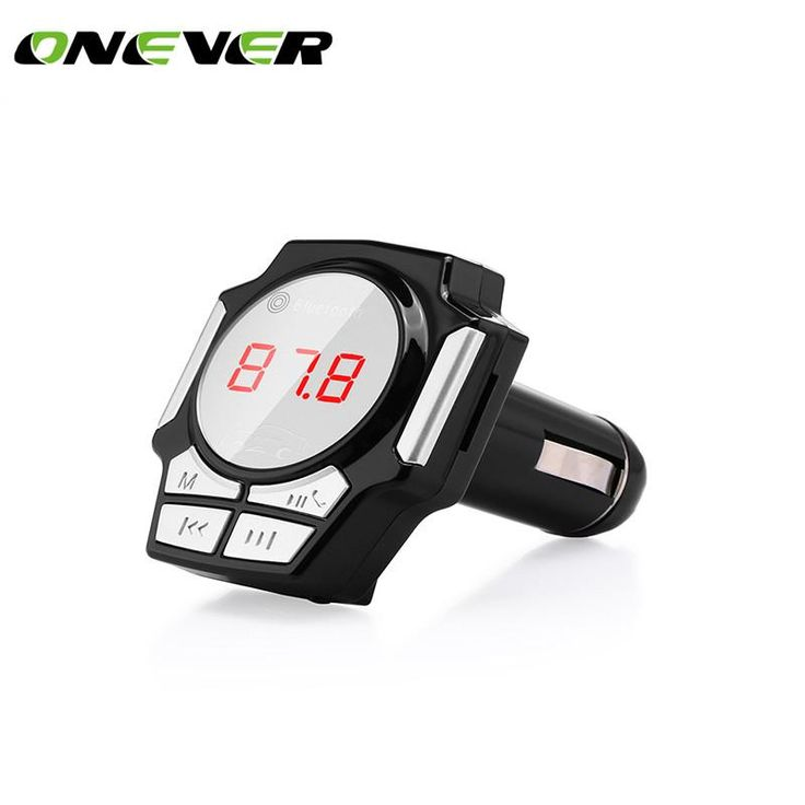 Onever FM Transmitter Car Bluetooth MP3 Player Car Kit Handsfree Bluetooth 4.0 Quick Charger for Phone Tablet GPS 1 Port USB