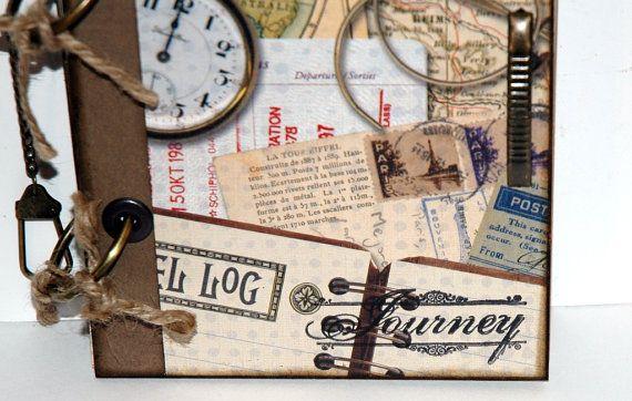 Vintage Inspired Travel Journal Journey Memory by KarenGeddings