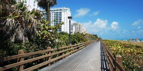 The Miami Beach Boardwalk
