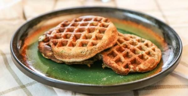Savory Multigrain Waffles with Green Chillies & Tabasco Sauce Recipe | http://aol.it/1l8SiSf By @archanaskitchen