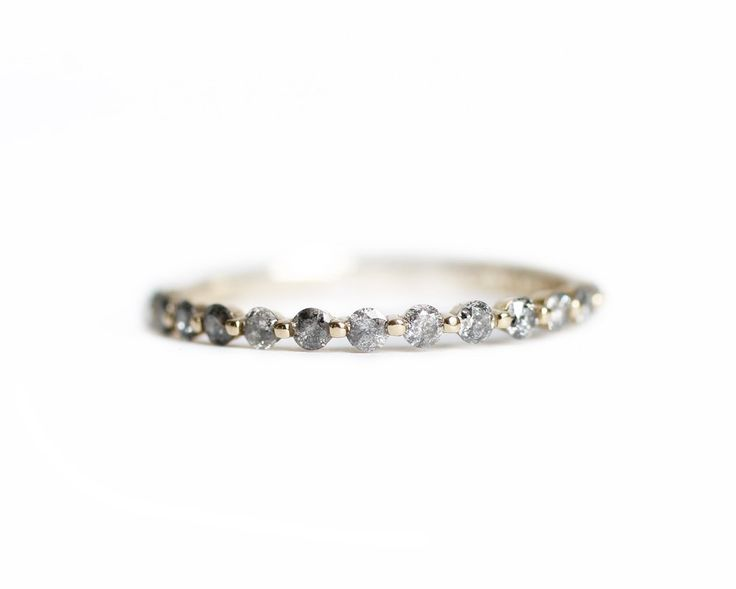 i wonder if this would stack well with my wedding band .. gray diamond pepper band - Consider the Wldflwrs  - 1