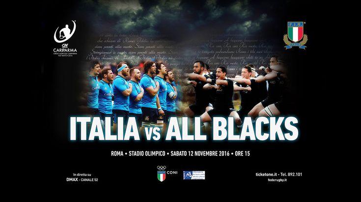 Campagna pubblicitaria dei Crédit Agricole Cariparma Test Match 2016 realizzata per la Federazione Italiana Rugby.