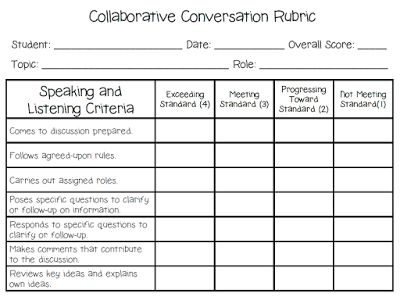 Collaborative Conversation Cards for Common Core