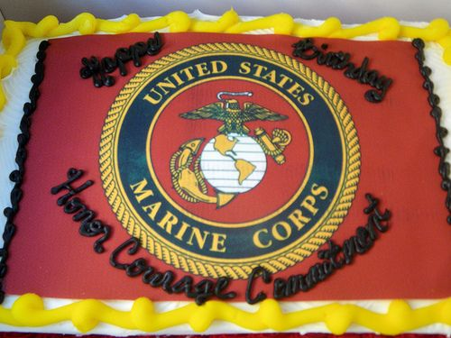Happy Birthday Marine Corps Cake   Flickr - Photo Sharing!
