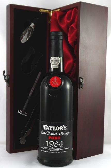 1984 Taylor's Late bottled Vintage Port Sweet and soft with a plummy taste and a spicy finish.