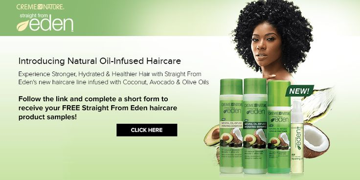 Get a FREE sample of Creme of Nature Straight From Eden Haircare Sample. Follow the link and fill out a short form to request your free sample.