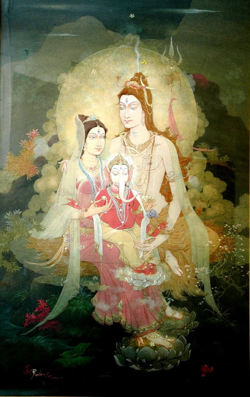kailasanath:  Śiva, Pārvatī, Gaṇeśa The Holy Family,Śiva Parivār