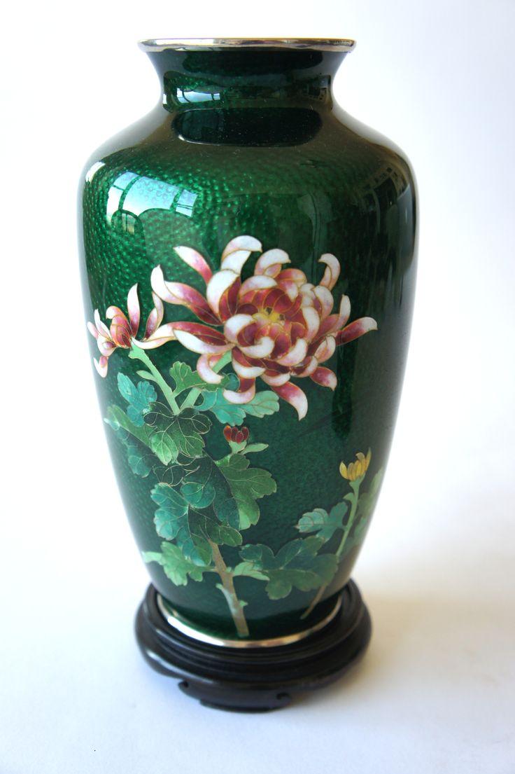 198 best japanese ceramicsporcelainspotteries images on fine ando peony botan japanese ikebana green cloisonn flower vase japan post reviewsmspy