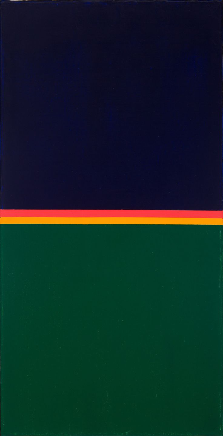 Max Bill (Swiss: 1908-1994), Kondensation Von Komplementar Faben, 1969. Oil on canvas.  80 x 40 cm