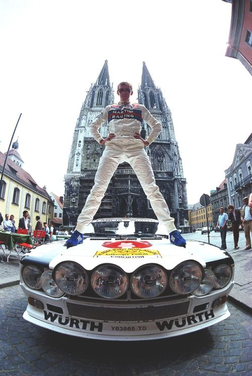 Walter Röhrl with his Lancia 037.
