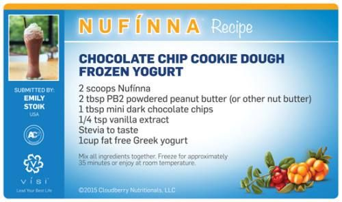 Chocolate Chip Cookie Dough Frozen Yogurt - A big mouthful in both saying and eating! Mmm!