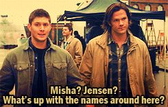 photoset * supernatural dean winchester sam winchester Jensen Ackles Misha Collins Jared Padalecki that was the most awkward episode of anyt...
