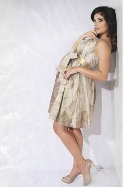 Vestido curto para gestante da coleção verão 2011 da Megadose.. Foto:Divulgação