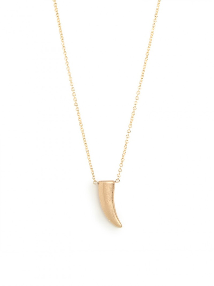 I never claim to be perfect, but the new trend in #fashion & #home grosses me out! Sorry!!! --  gold horn pendant!