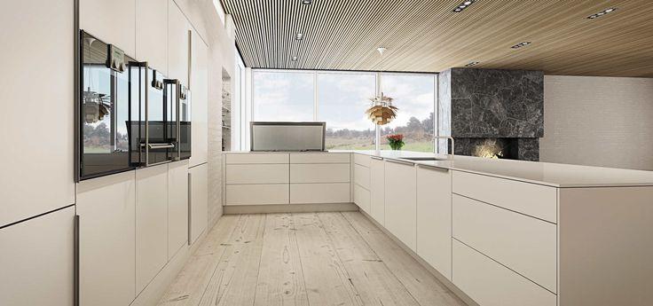 Minimalistisk kjøkken | Hvitt kjøkken i nordisk stil fra uno form