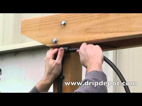 How to Intsall a Drip Irrigation System for Hanging Baskets