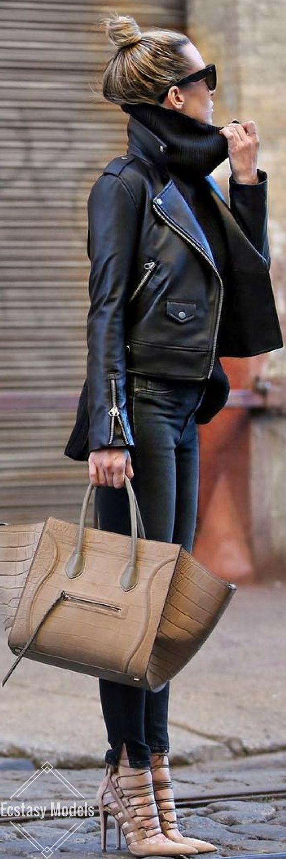 Black & Neutral // Fashion Look by Brooklyn Blonde