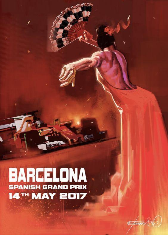 Scuderia Ferrari cover art for Spanish Grand Prix 2017
