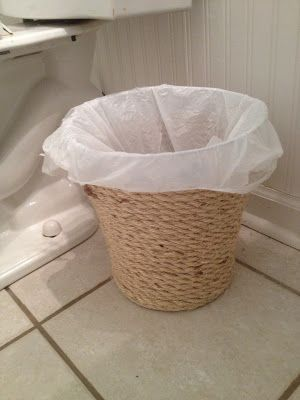 Dollar Store Waste Basket Makeover :: Hometalk