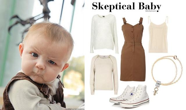 11e7ee7c9cc94b0db8d421e5b3426acd baby memes themed outfits fall's hottest fashion trend internet memes internet memes,Skeptical Baby Meme