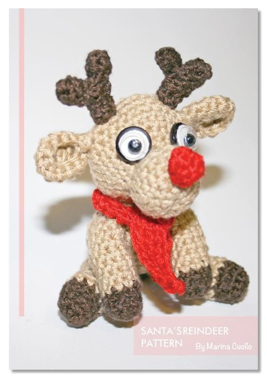 Santa's Reindeer by Marina Pattern | Crocheting Pattern - Looking for your next project? You're going to love Santa's Reindeer by designer Marina Pattern. - via @Craftsy