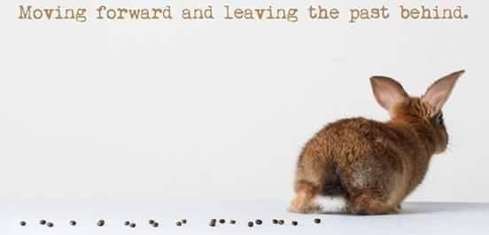 Move forward. Leave the past behind.