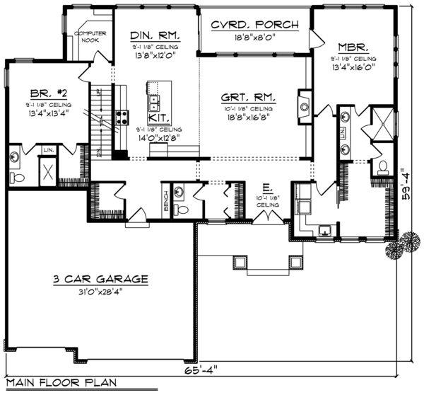 ranch style house plan 2 beds 2 50 baths 2160 sq ft plan 70 1461 rh pinterest com
