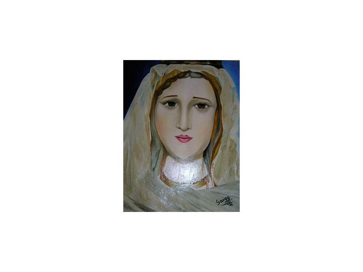 Estatua Virgen de Fatima 2007 45 cm x 55 cm Oil on Canvas ( Óleo sobre Tela)  http://www.heidisaigg.com/ Sold Out - Vendida