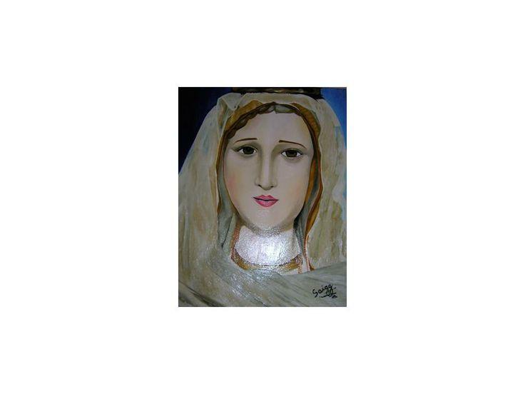 Estatua Virgen de Fatima 2007 45 cm x 55 cm Oil on Canvas ( Óleo sobre Tela) www.artsaigg.com Sold Out - Vendida