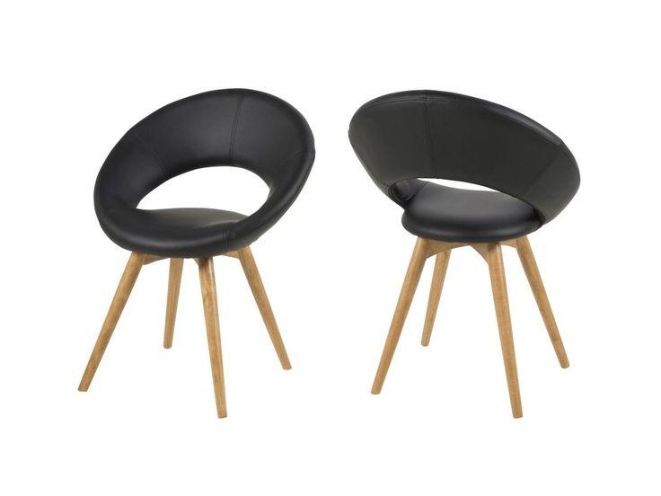 Krzesło Plump V czarne — Krzesła Actona — sfmeble.pl