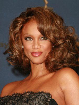 Tyra Banks has enviably voluminous curls