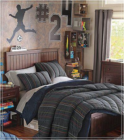 Teen boys sports theme bedrooms design inspiration of for Boys sport bedroom ideas
