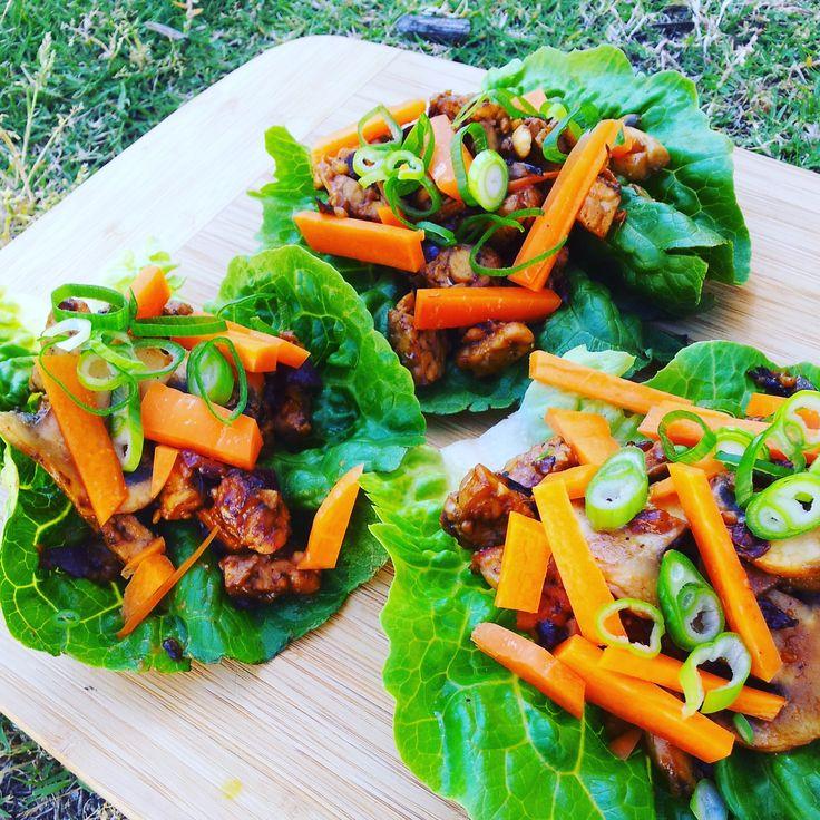 Tempeh Satay Wraps - vegan