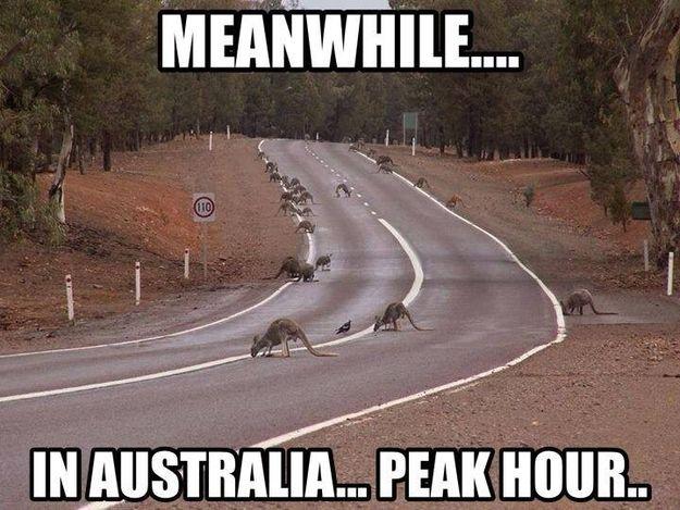 Peak hour traffic.   35 Australian People Problems