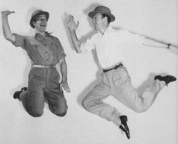 """""""Astaire is impervious to emotion…whereas Kelly is a suffering human being. Kelly bleeds and Astaire doesn't."""" ~film critic Pauline Kael"""