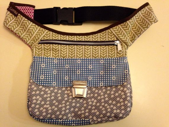"""Exclusive handmade Fanny Pack """"Japan Patchwork"""". From Barcelona with love!"""
