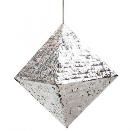 Metallic Silver Diamond Pinata