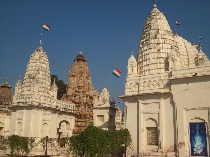 Image of both Parsvanatha  and Adinatha Temple in Khajuraho. Both the temples are dedicated to Tirthankara of Jainism.