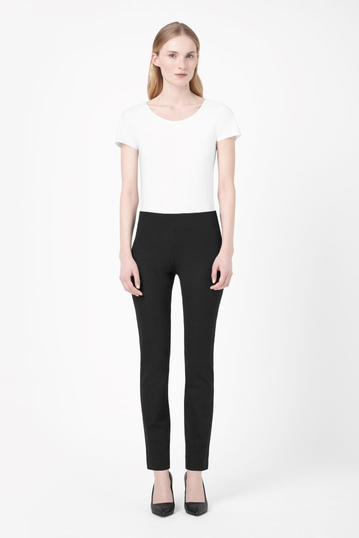 COS | Slim side-zip trousers