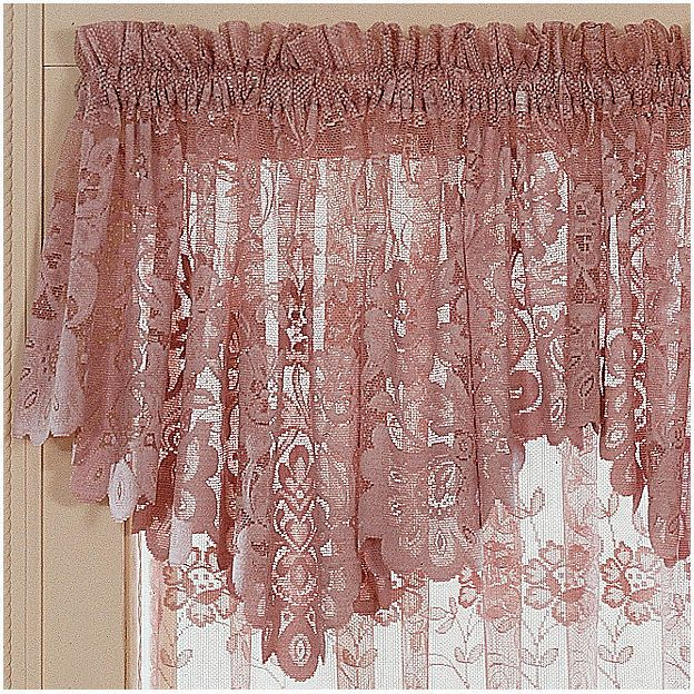 Jcp Home Jcpenney Hometm Shari Lace Rod Pocket Ascot Valance