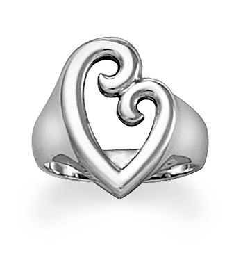 Mother's Love Ring: A design enjoyed by all generations, the everlasting bond between a mother and child serves as the inspiration for this ring. Resembling a mother's embrace, the subtle contours of a mother and child emerge from the simple shape of a heart. #jamesavery