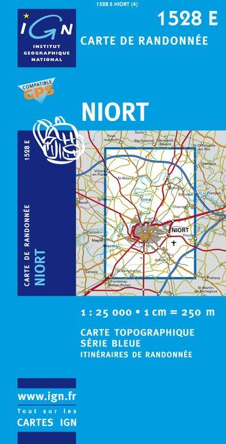 Carte IGN : 1528E - Niort (Gps)