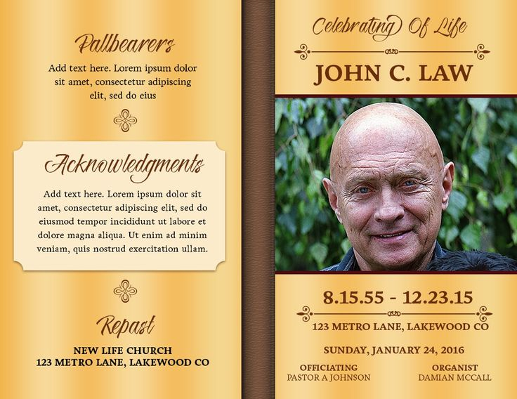 13 best Free Templates images on Pinterest Church bulletins - 35 printable obituary