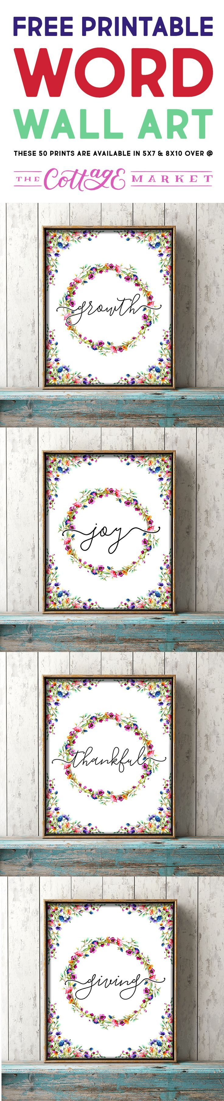 Free Printable Word Wall Art What's Your Word Of The Year?