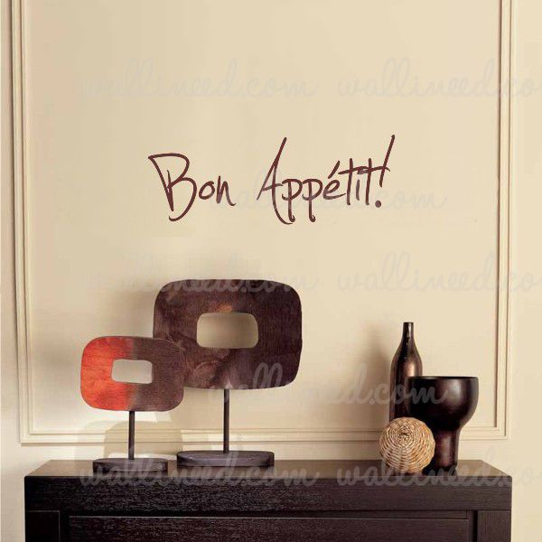 Bon Appétit Wall Decal Vinyl Sticker Quote Kitchen Decoration
