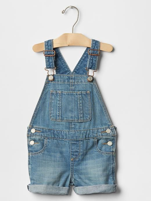 1969 Light Wash Denim Shortalls | Baby Gap