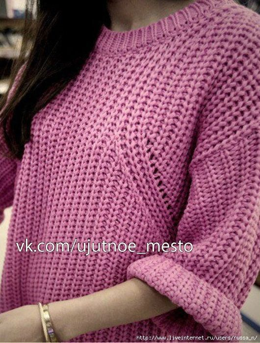 Как связать такой пуловер. Видео.